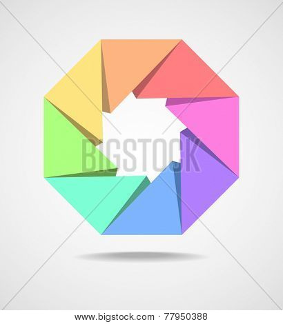Colorful Octagonal shaped design element