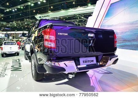 Nonthaburi - December 1: Rear Of Mitsubishi New Triton 2014 Car Display At Thailand International Mo