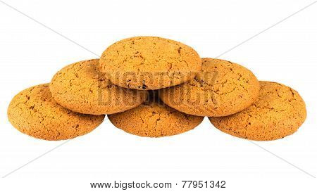 Biscuit Piramidisolated On White Background