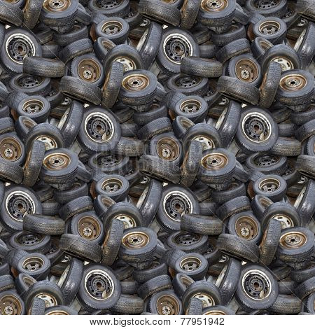 Old Tyres Seamless Background Pattern