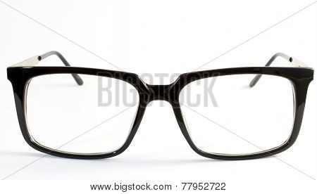 Teenage Glasses On White Background