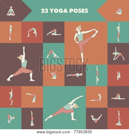 23 Yoga Poses