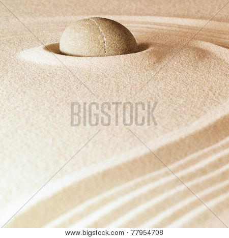 spa and zen background sand and stone with lines relaxation and meditation concept for purity spirituality serenity calmness peaceful harmony simplicity relax copyspace
