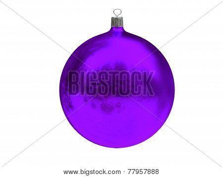 Christmas purple ball