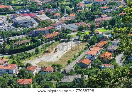 Construction Site In The Picturesque Village. The Republic Of San Marino