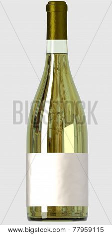 Bottle with white wine