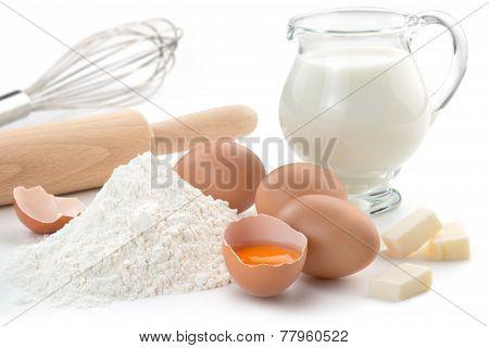 ingredients and kitchen utensils
