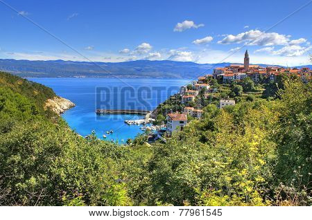 Town Of Vrbnik Green Landscape