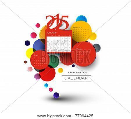 New Year 2015 Calendar