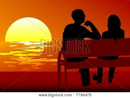 Couples on benchens