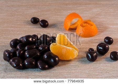 Chocolate Pralines With Orange