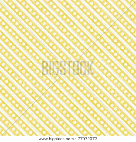 Light Yellow And White Small Polka Dots And Stripes Pattern Repeat Background