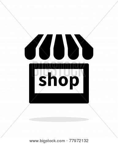 Shop icon on white background.