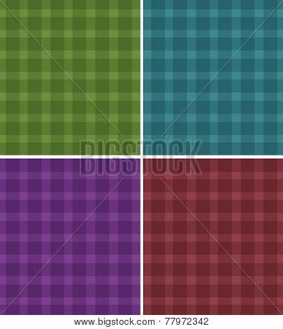 Illustration of different pattern of tartan