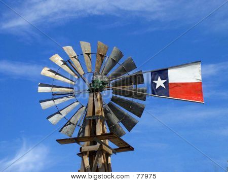 Windmill In Texas