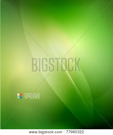 Fresh green blur wave and colors, abstract background