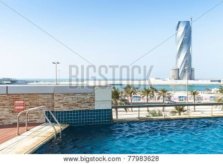 Swimming Pool And United Tower Under Construction