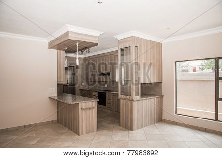 Kitchen Of Newly Build House.