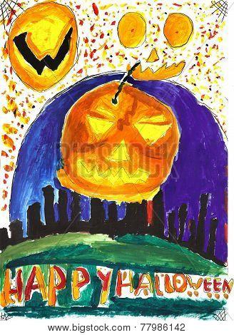 Halloween Child Drawing