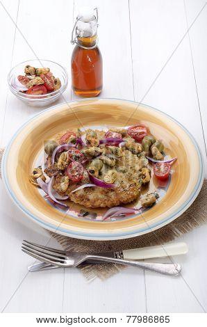 Mediterranean Potato Pancake On A Plate
