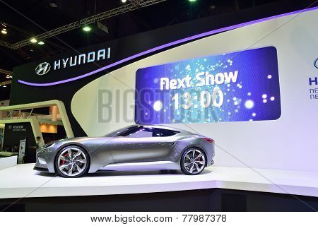 Nonthaburi - December 1: Hyundai Hnd-9 Concept Car Display At Thailand International Motor Expo On D