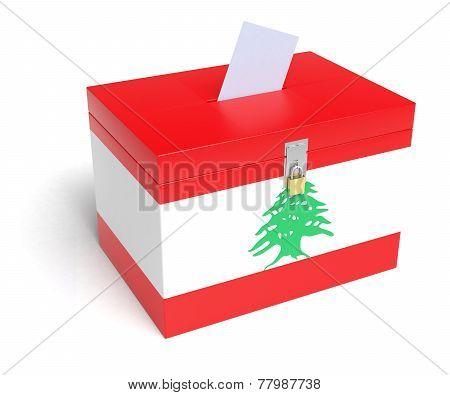 Lebanese Flag Ballot Box