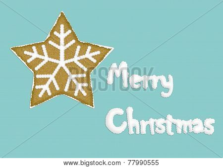 christmas card with star cookie