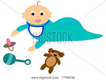 Crawlen Baby mit Spielzeug