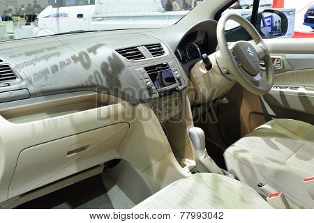 Nonthaburi - December 1: Interior Design Of Suzuki Ertiga Car Display At Thailand International Moto
