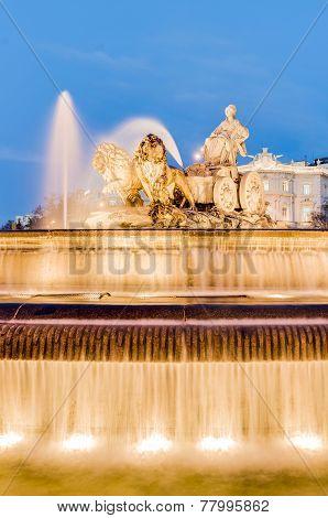 Cibeles Fountain At Madrid, Spain