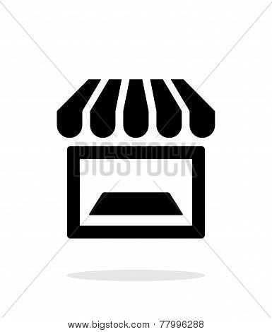 Showcase icon on white background.