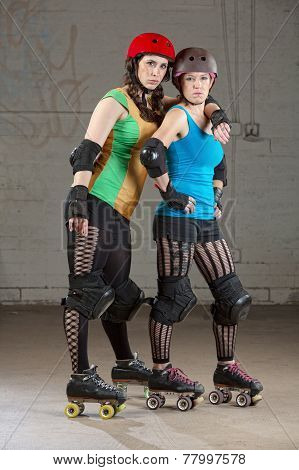 Serious Roller Derby Buddies