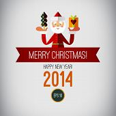 picture of christmas claus  - Merry christmas design - JPG