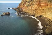Постер, плакат: Rock Beach At Sinset In La Palma Spain