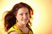 image of fat lip  - Plus size model posing like fashion models studio - JPG