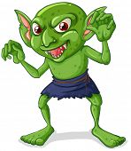 picture of goblin  - Illustration of a green goblin - JPG