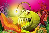 pic of piranha  - A big scary fish under the sea - JPG
