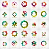 picture of star shape  - Set of abstract star flower shape logos - JPG