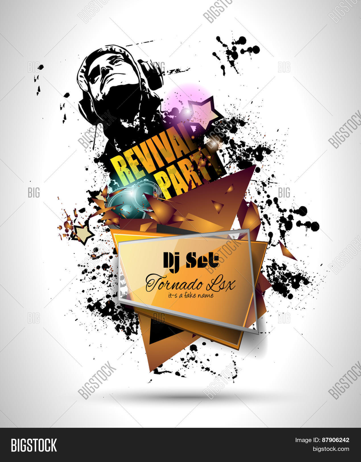 disco night club flyer layout dj shape and music themed disco night club flyer layout dj shape and music themed elements to use for event