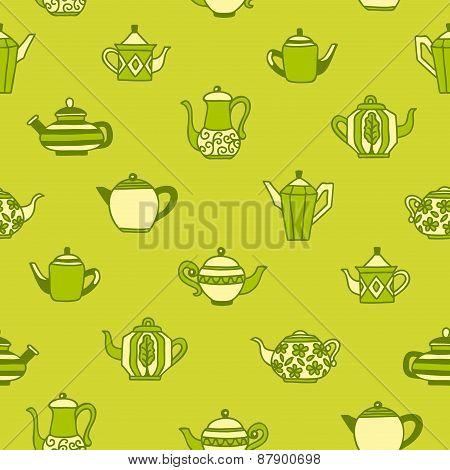 Teapots Seamless Wallpaper