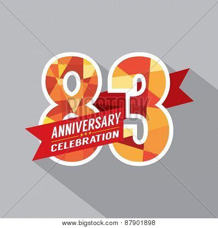83Rd Years Anniversary Celebration Design.