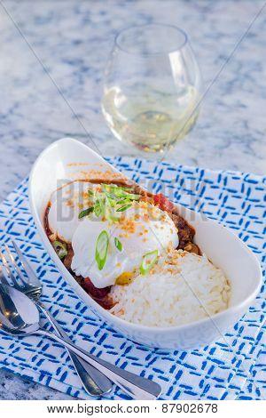 Venison Chili Loco Moco