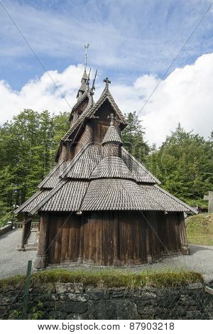 Fantoft Stave Church in Bergen, Norway