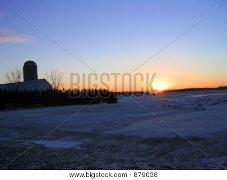 Snowy Farmland