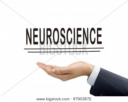 Neuroscience Word Holding By Businessman's Hand