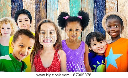 Diversity Children Friendship Innocence Smiling Concept