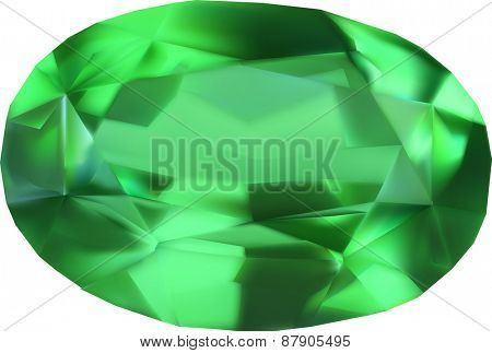 illustration with gem isolated on white background
