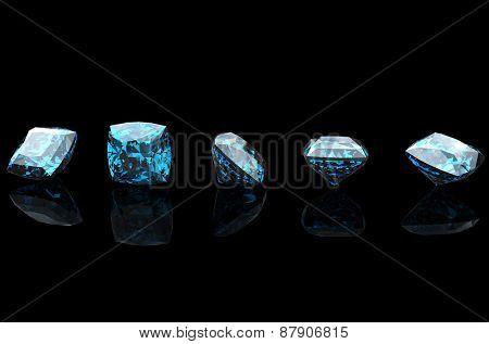 Jewelry Background with  gemstones. Diamond