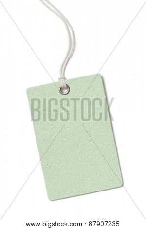 Blank cardboard price tag or label isolated on white background