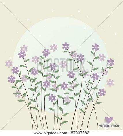 Floral bouquets, vector illustration.